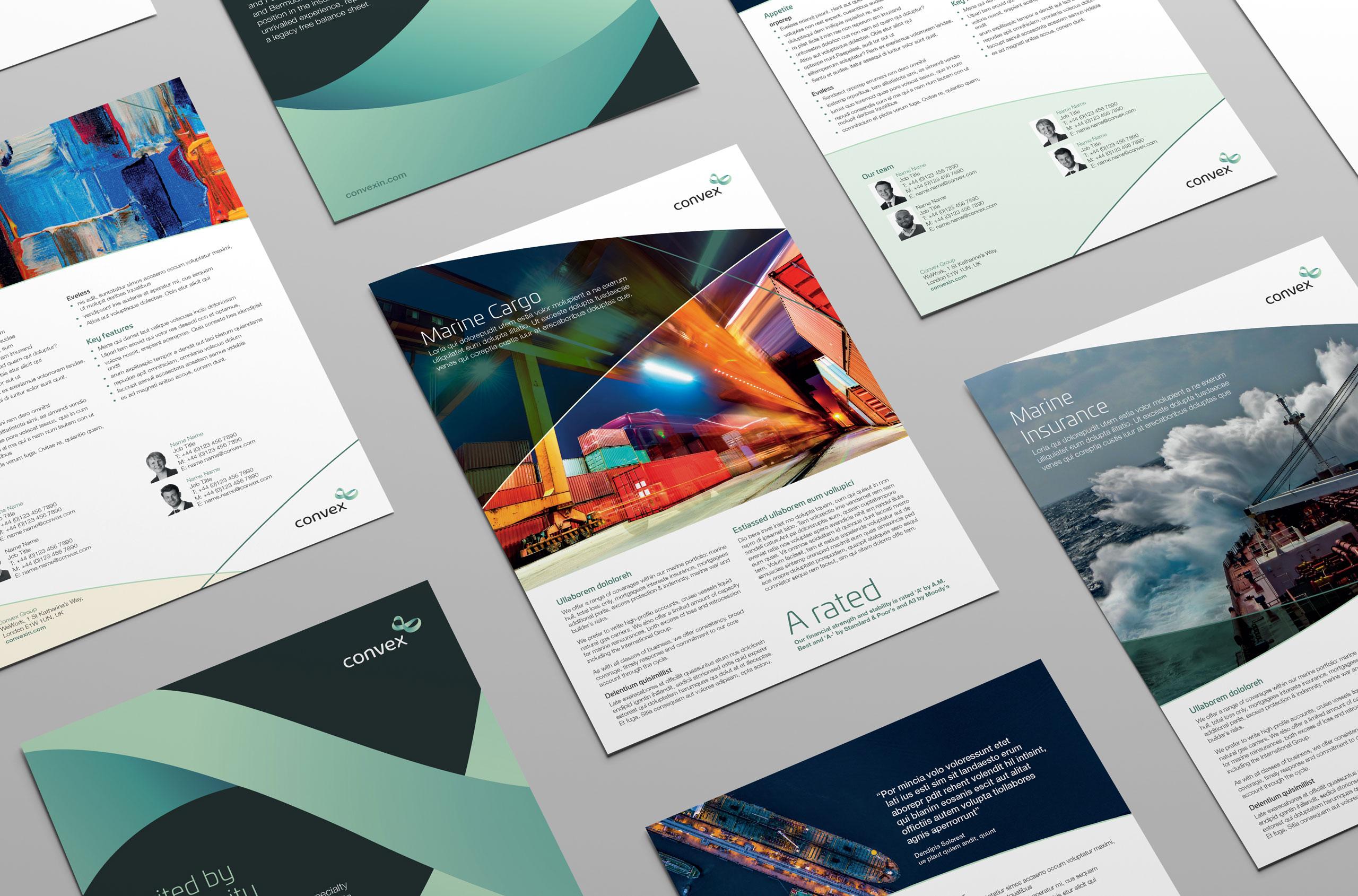 Glendale Creative Convex Factsheet Designs