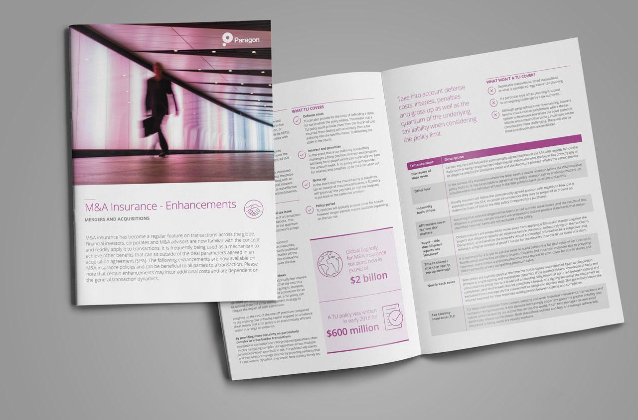 Glendale Creative Paragon Print Brochure Design