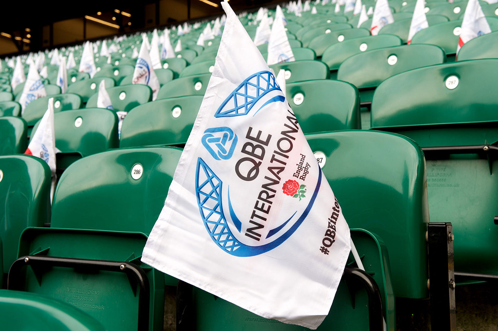 Glendale Creative QBE Internationals Rugby Twickenham Seat Flags