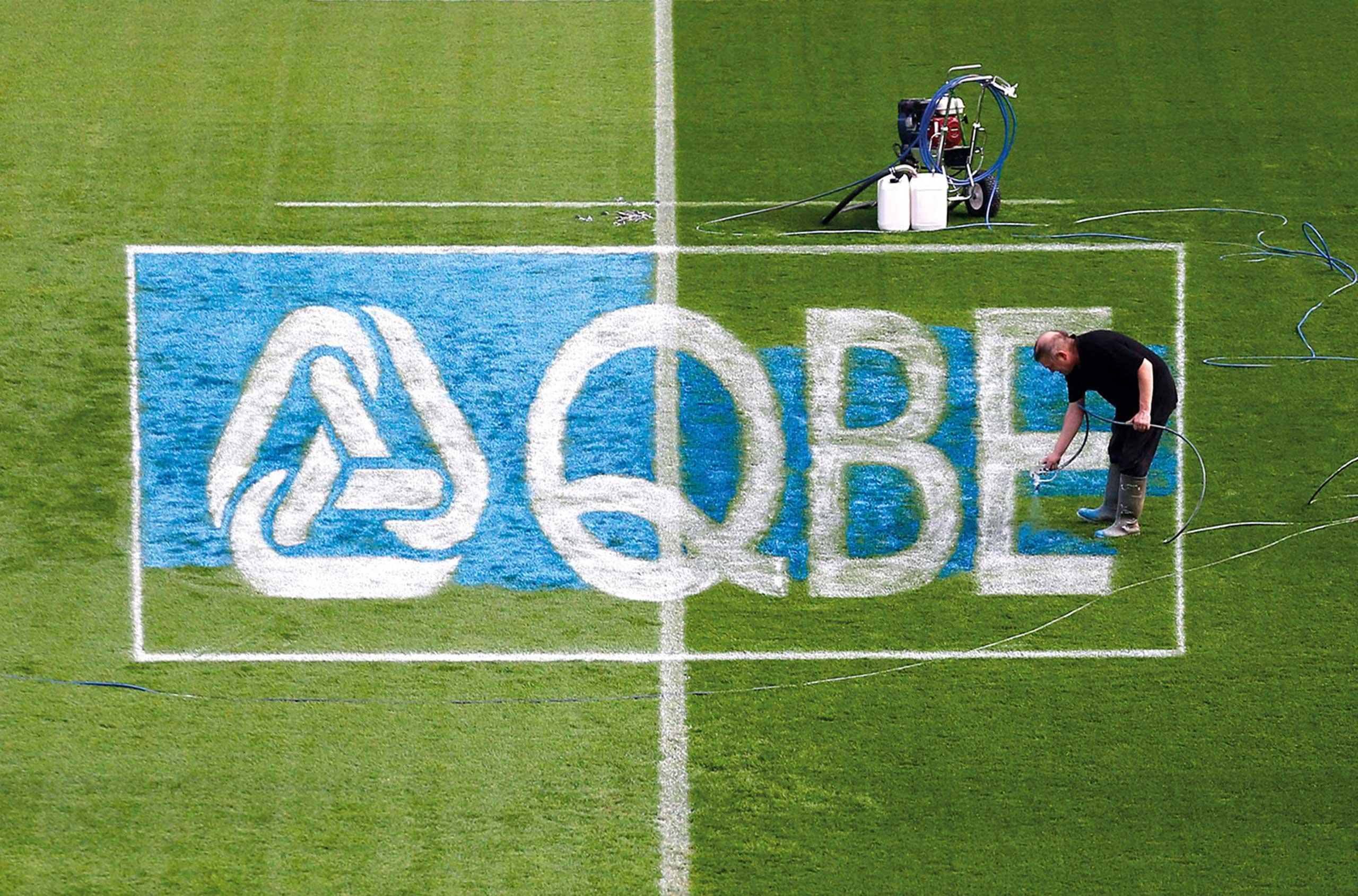 Glendale Creative QBE Internationals Rugby Pitch Design