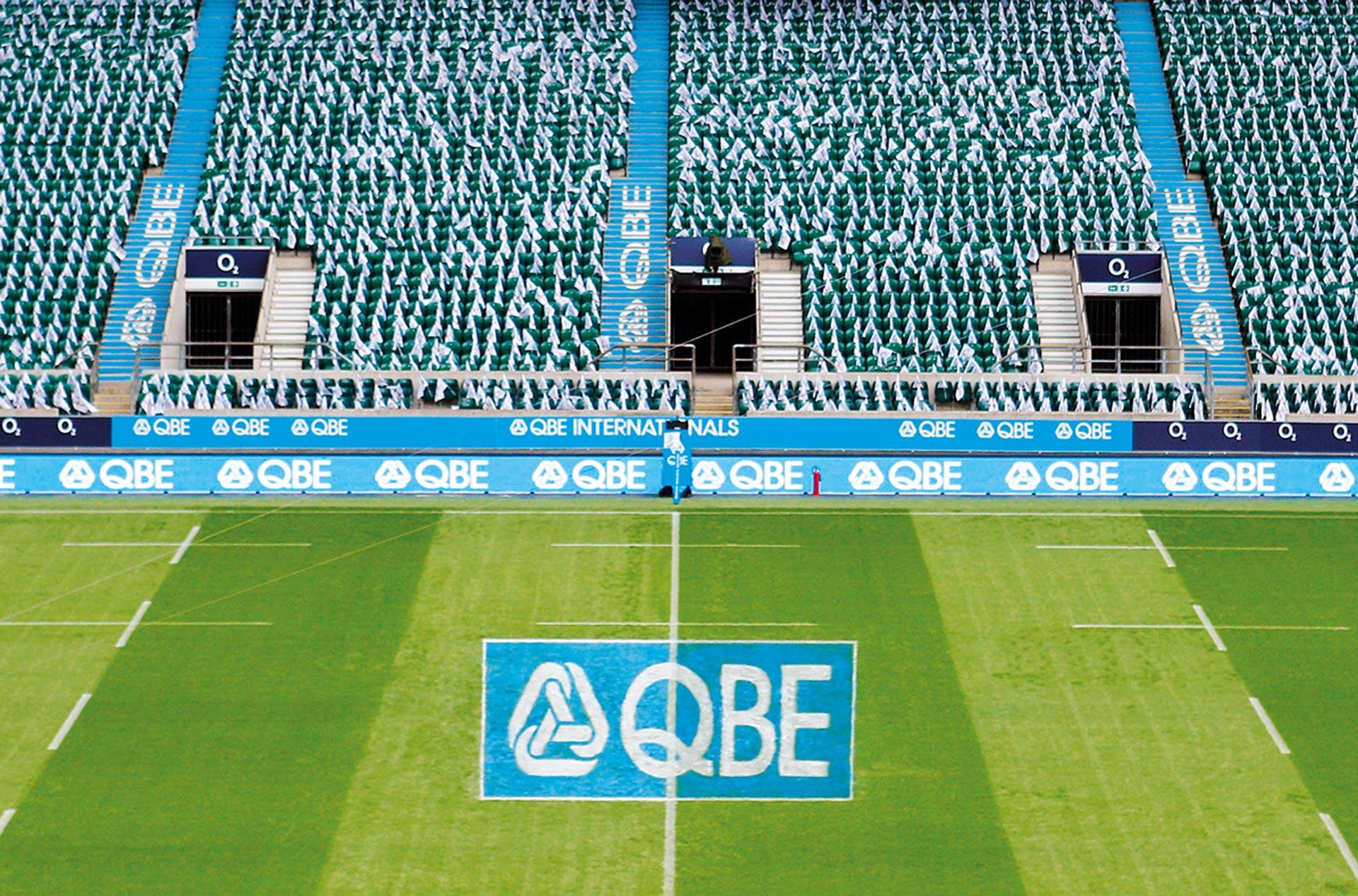 Glendale Creative QBE Internationals Rugby Twickenham Bowl Pitch Markings