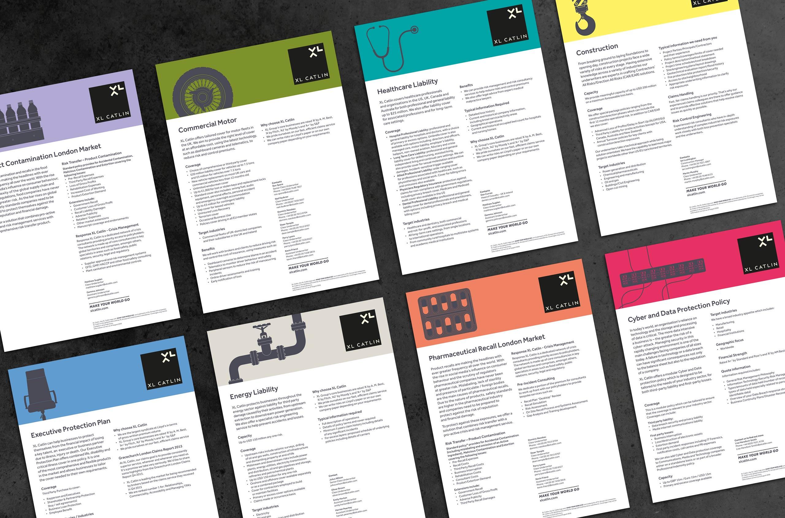 Glendale Creative XL Catlin Custom Illustrations Factsheets