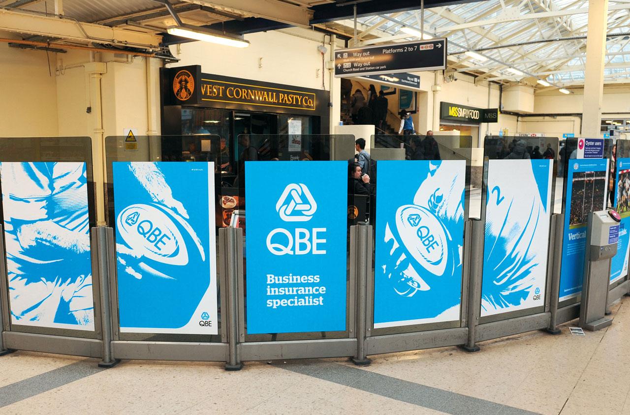 Glendale Creative QBE Internationals Twickenham Station Branding