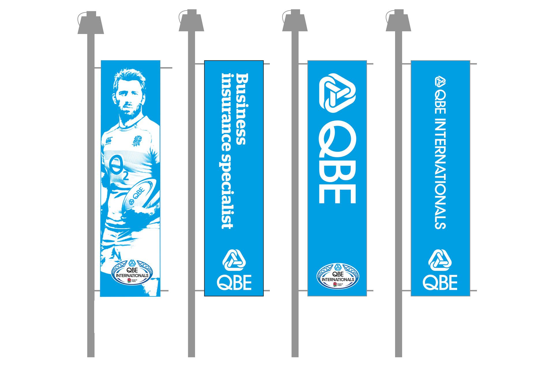 Glendale Creative QBE Internationals Twickenham Branding