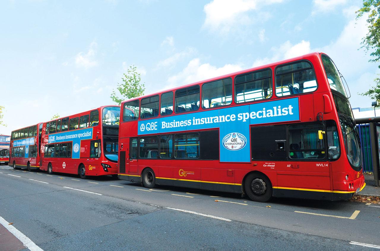 Glendale Creative QBE Internationals Twickenham Bus Branding