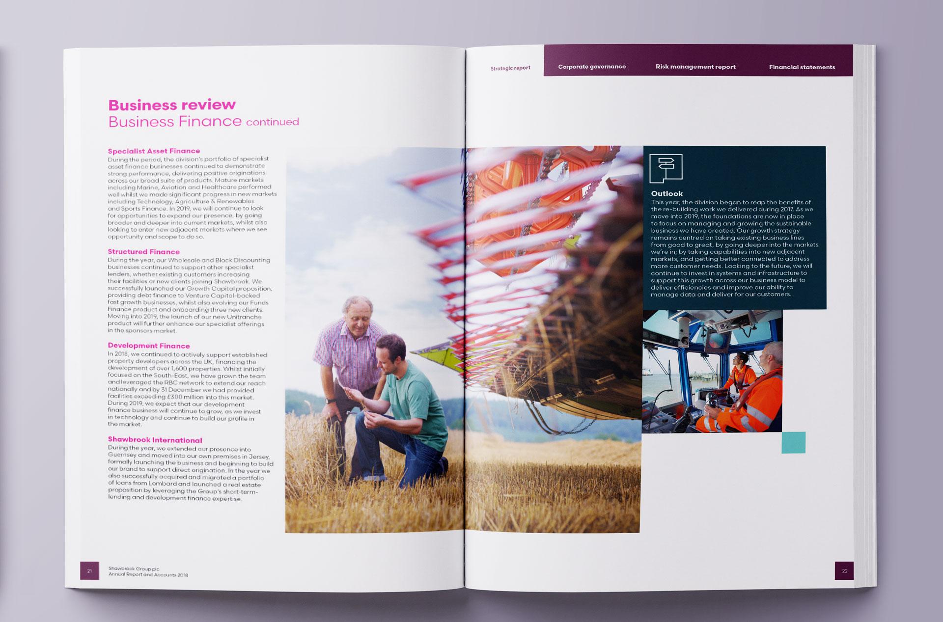 Glendale Creative Shawbrook Bank Annual Report Design