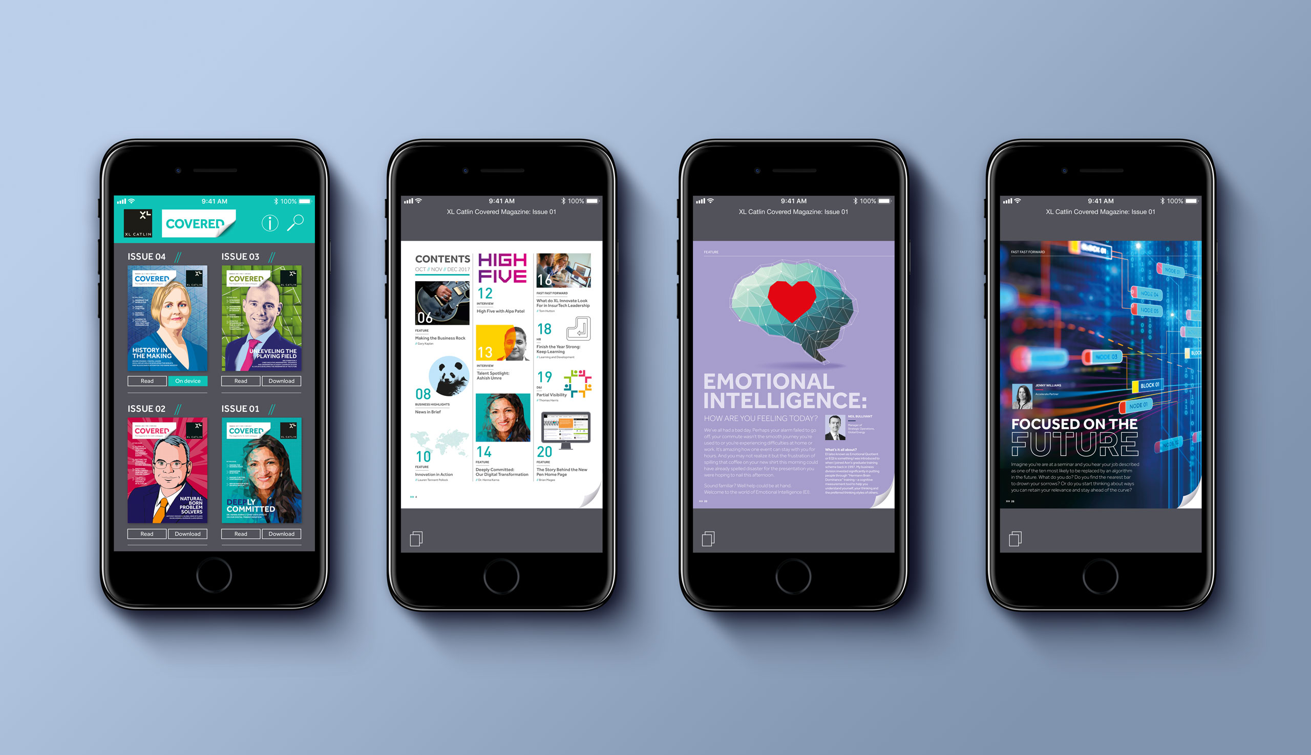 Glendale Creative XL Catlin App Design