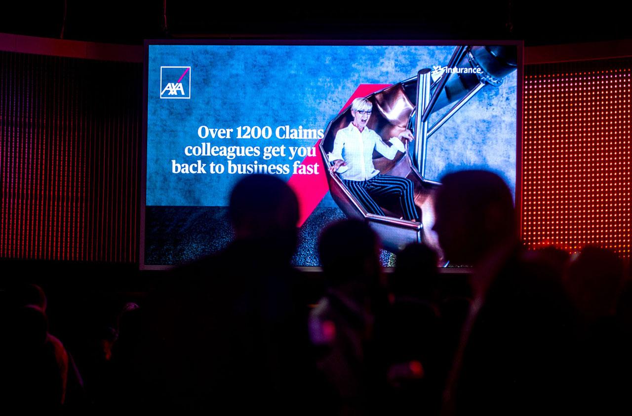 Glendale Creative AXA Claims Broker Party Design