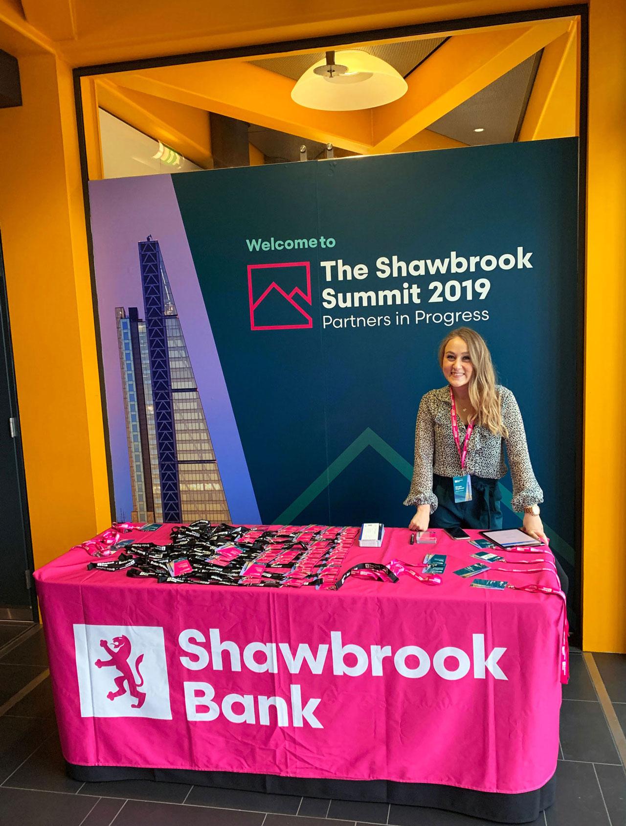 Glendale Shawbrook Broker Summit Welcome Stand
